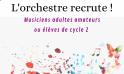 L'Orchestre recrute !